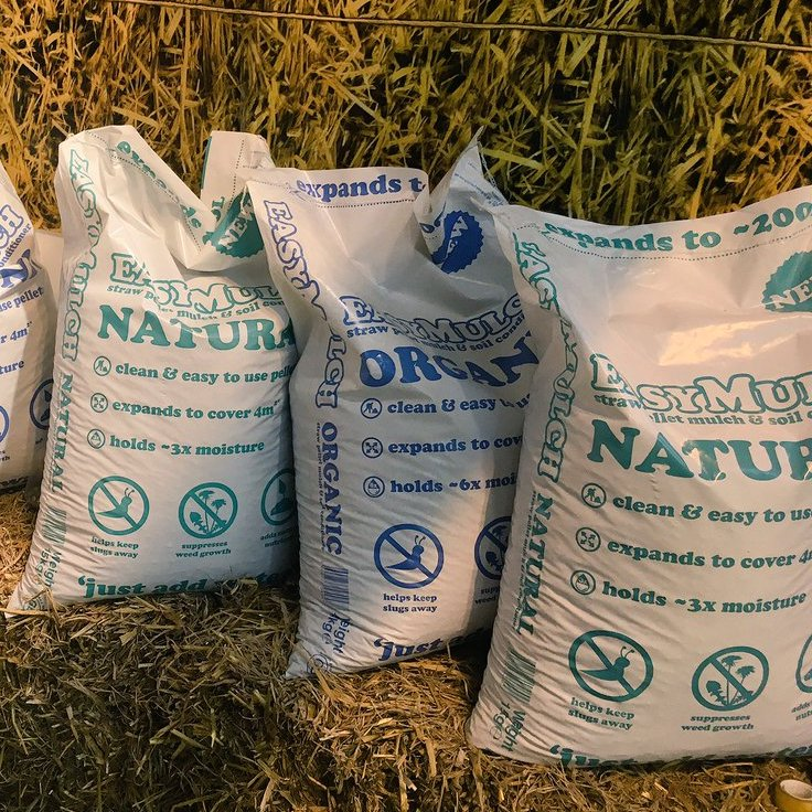 easymulch comes in handy to use 15kg bags